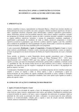 Diretrizes Gerais - Ministério do Esporte