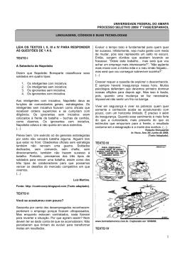 ps 2009 - prova interdisciplinar - espanhol