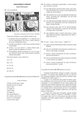 LINGUAGENS E CÓDIGOS 01. Leia os quadrinhos