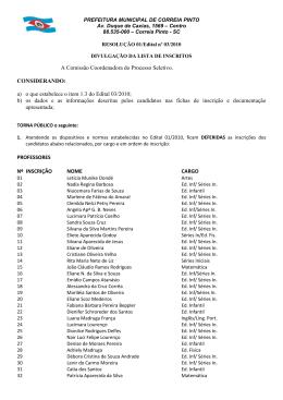 Lista Geral de Inscritos