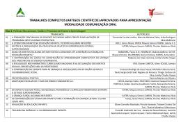 trabalhos aprovados - Faculdade União das Américas