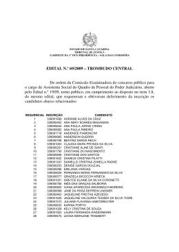 Edital 69/09 - Tribunal de Justiça de Santa Catarina