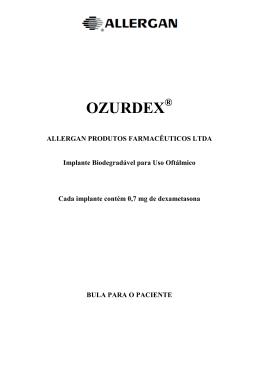 OZURDEX - Allergan