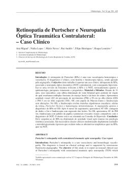 Retinopatia de Purtscher e Neuropatia Óptica Traumática