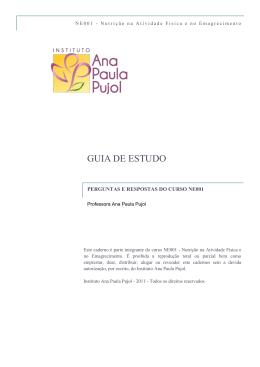 GUIA DE ESTUDO - Instituto Ana Paula Pujol