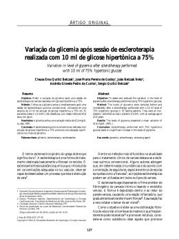 Escleroterapia - Jornal Vascular Brasileiro