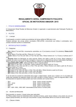 regulamento geral campeonato paulista oficial de motocross amador