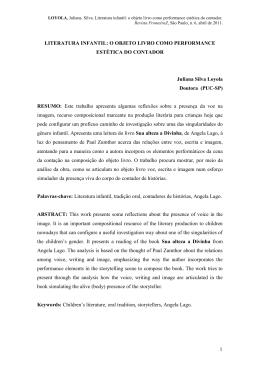 literatura infantil: o objeto livro como performance estética - PUC-SP