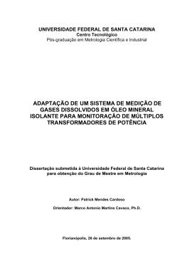 adaptação de um sistema de medição de gases dissolvidos