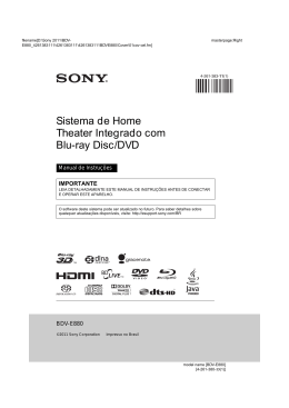 Sistema de Home Theater Integrado com Blu