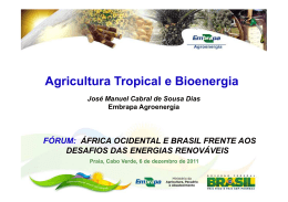 JOSÉ MANUEL CABRAL DIAS - Agricultura tropical e