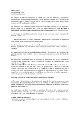 Exm.º Senhor Presidente da FPCUB José Manuel Caetano, Em