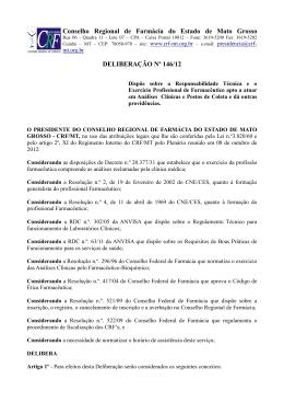 Deliberação 14612 - Certidão de Regularidade 2013 para