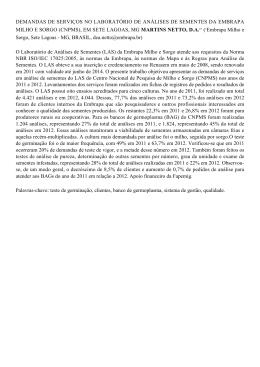 demandas de serviços no laboratório de análises - Ainfo