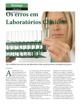 Os erros em Laboratórios Clínicos