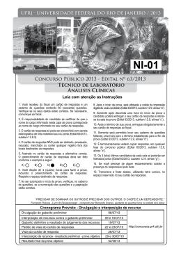 Prova - Concursos UFRJ - PR-4 - Pró