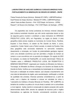 LABORATÓRIO DE ANÁLISES QUÍMICAS E ENSAIOS