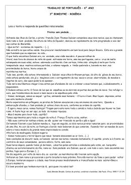 TRABALHO DE PORTUGUÊS – 6º ANO 3º BIMESTRE – ROGÉRIA