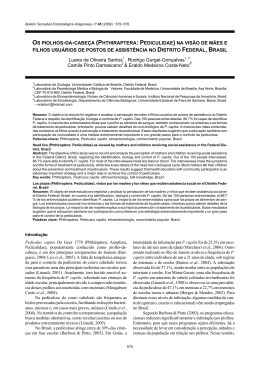 os piolhos-da-cabeça (phthiraptera: pediculidae) na visão de mães