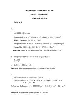 Proposta de resolução da prova final de Matemática do 2.º Ciclo do