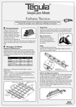 Folheto Técnico