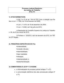 PROCESO JUDICIAL ELETRÔNICO