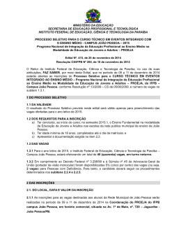 EDITAL 415-2014 - PROEJA 2015 - João Pessoa