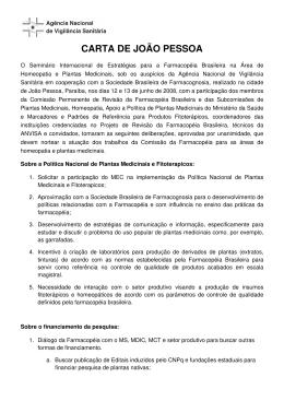 CARTA DE JOÃO PESSOA