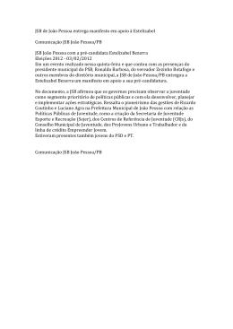 JSB de João Pessoa entrega manifesto em apoio à Estelizabel