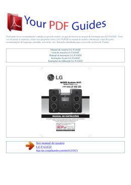 Manual de instruções LG FA162Z