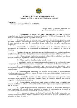 Resolução Conama nº 463, de 29 de julho de 2014