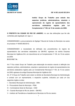1 DECRETO Nº 38.942 DE 14 DE JULHO DE 2014 Institui Grupo de