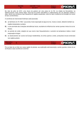 Questão Curso e Colégio 78 dia 23/11 No mês de julho de 2014