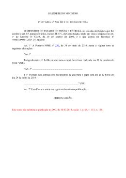 Portaria MME 320/2014