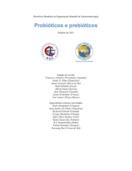 Probióticos e prebióticos - World Gastroenterology Organisation