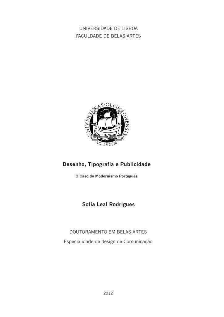 459318f8a Desenho, Tipografia e Publicidade Sofia Leal Rodrigues