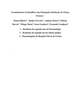 Granulomatose Eosinofílica com Poliangeíte (Síndrome de Churg