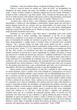 Profetizar - Dom José Alberto Moura, Arcebispo de Montes Claros