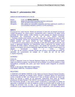 Revista 17 - julho/setembro 1994 - Tribunal Regional Federal da 5ª