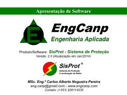Apresentação do SisProt () - Página inicial