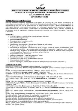 anexo ii – edital de recrutamento e seleção nº 038/2015