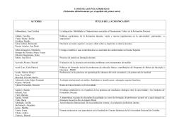 COMUNICACIONES APROBADAS - Universidad Nacional de Rosario