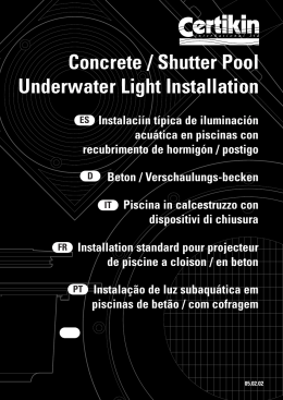 Concrete / Shutter Pool Underwater Light Installation