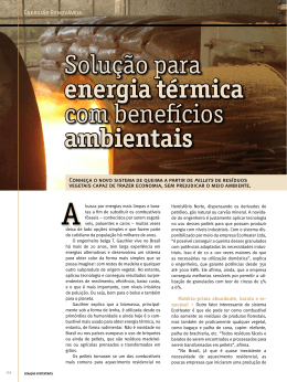 Solução para energia térmica com benefícios ambientais