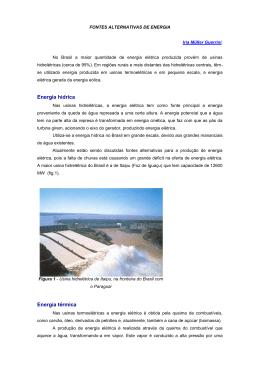 Energia hídrica Energia térmica
