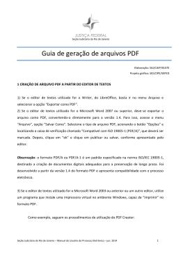 Guia de geração de arquivos PDF - Justiça Federal