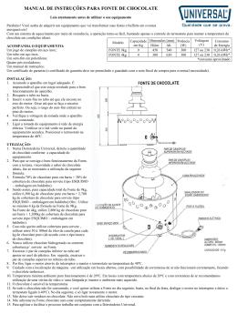 Clique para ver o Manual Completo da Fonte de Chocolate