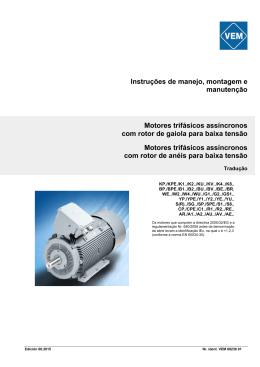 Instruções de manejo, montagem e manutenção Motores