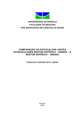 e restor asférica - Universidade de Brasília