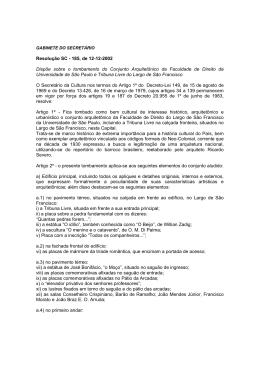 RES. SC 185/02 - Prefeitura de São Paulo
